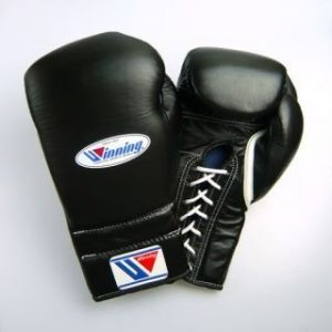 WINNING Boxing Training Gloves 12 oz Professional Type Black MS-400