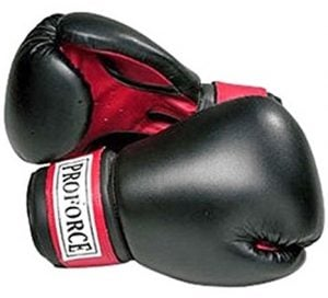 Pro Force Leatherette Boxing Gloves with White Palm under 50